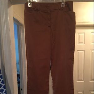 Jones New York camel color stretch pants, size 12